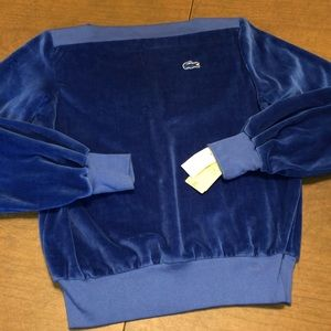 Beautiful NWT VTG IZOD Blue Velour Sweatshirt